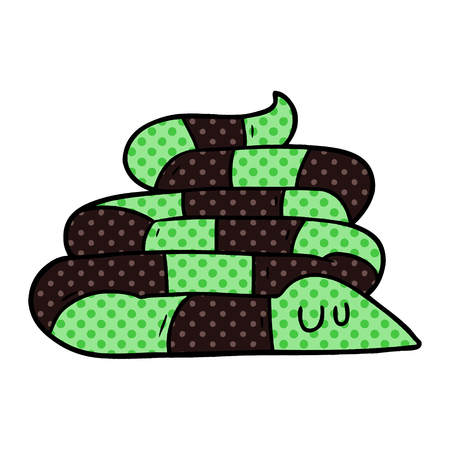 cartoon sleepy snake 向量圖像