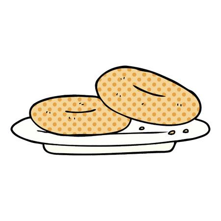 cartoon donuts illustration design.  イラスト・ベクター素材