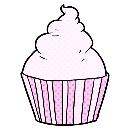 cartoon cup cake Иллюстрация