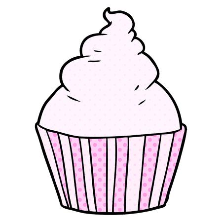 cartoon cup cake Illustration