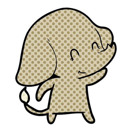 cute cartoon elephant Standard-Bild - 95543485