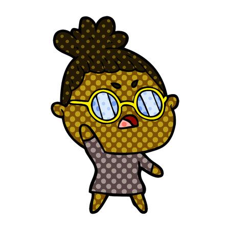 Cartoon annoyed woman  イラスト・ベクター素材
