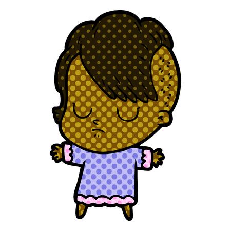 cartoon woman sleeping