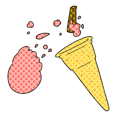 cartoon ice cream Stock Illustratie