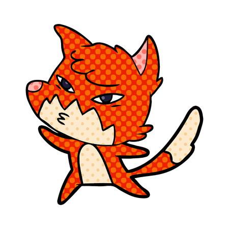 A clever cartoon fox