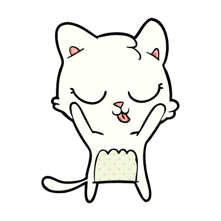A cute cartoon cat