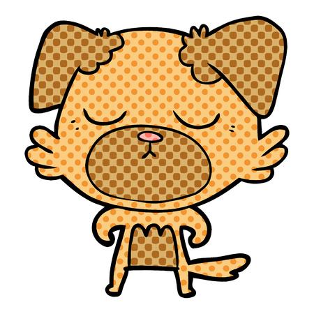 Cute cartoon dog vector illustration