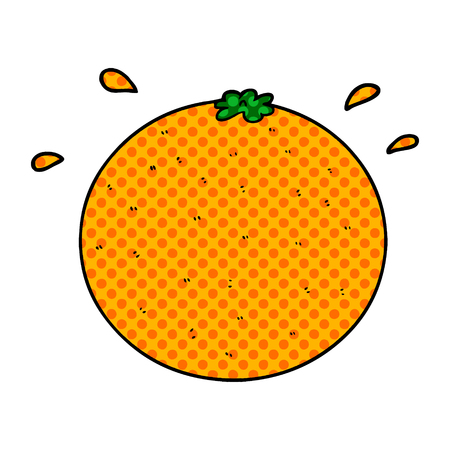 cartoon orange Stock Illustratie