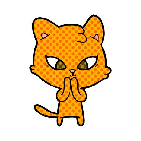 cute cartoon cat Stock Vector - 95611890
