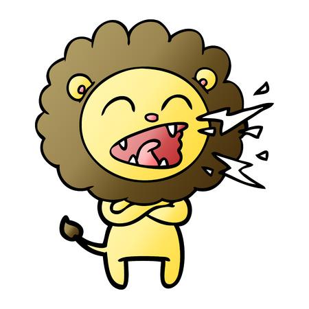 cartoon roaring lion Vector illustration. Banque d'images - 95479511