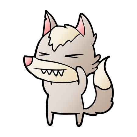 angry wolf cartoon Stock Vector - 95612155