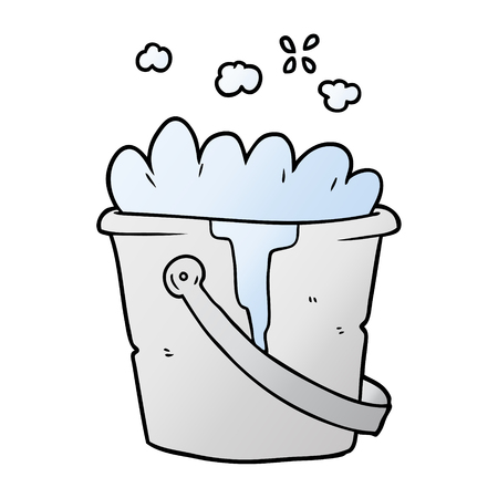 A cartoon bucket of soapy water Stock Illustratie