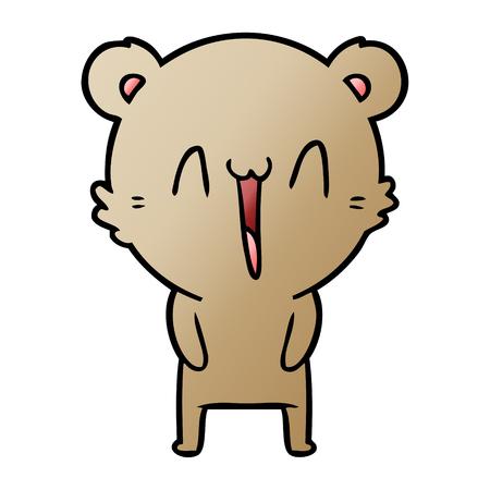 happy bear cartoon 스톡 콘텐츠 - 95612228