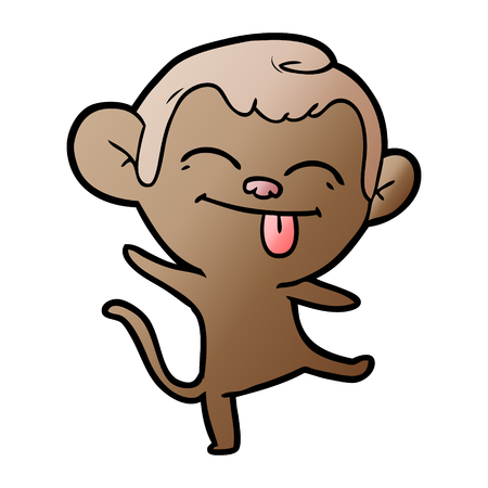 funny cartoon monkey dancing