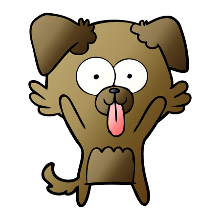 cartoon dog with tongue sticking out Vector illustration. Illustration
