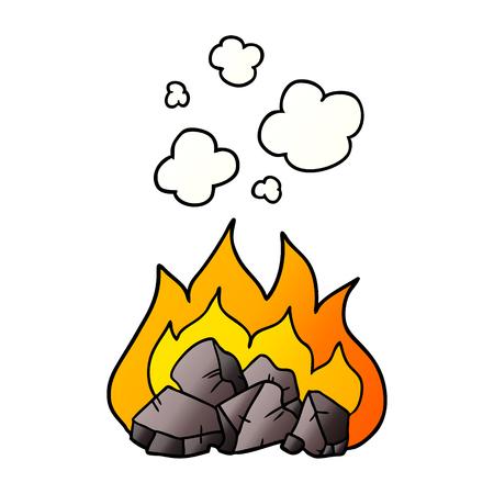 Hand drawn cartoon hot coals Illustration