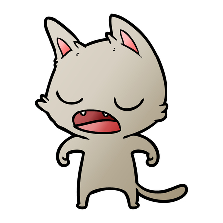 Talking feline cartoon