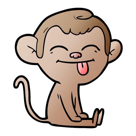 funny cartoon monkey sitting