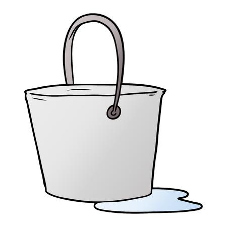水の漫画バケツ  イラスト・ベクター素材