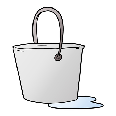 Cartoon bucket of water