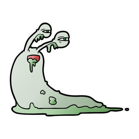 gross cartoon slug vector illustration.