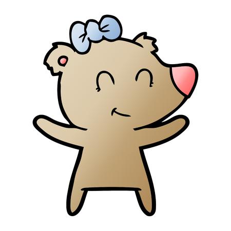 female bear cartoon vector illustration. Archivio Fotografico - 95510217