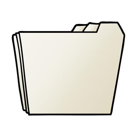 cartoon business folders vector illustration. Ilustracja