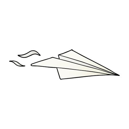 cartoon paper airplane vector illustration. Foto de archivo - 95511291