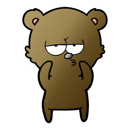 Bored bear cartoon