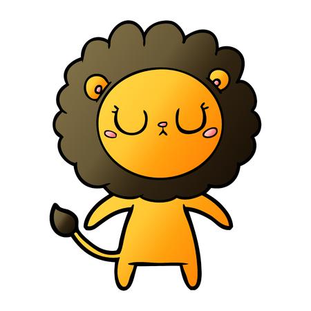 Cue cartoon lion Vettoriali
