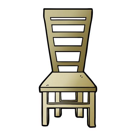 Dibujos animados de silla de madera vieja Foto de archivo - 95521438