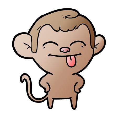 Funny cartoon monkey