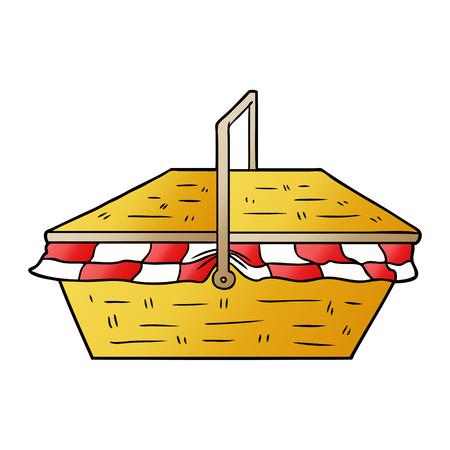 Cartoon picnic basket