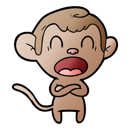 shouting cartoon monkey vector illustration. Stock fotó - 95513280