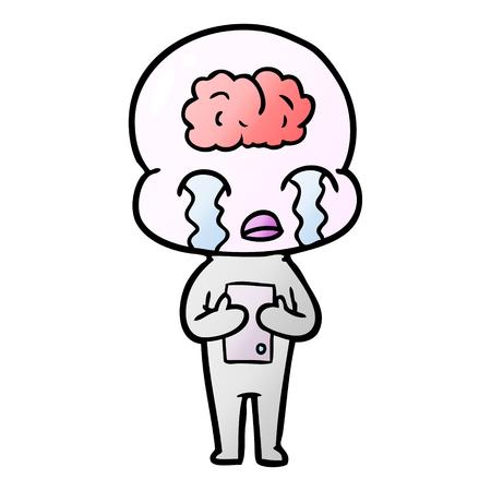 漫画大脳エイリアン泣き