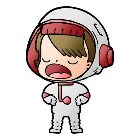 Cartoon talking astronaut