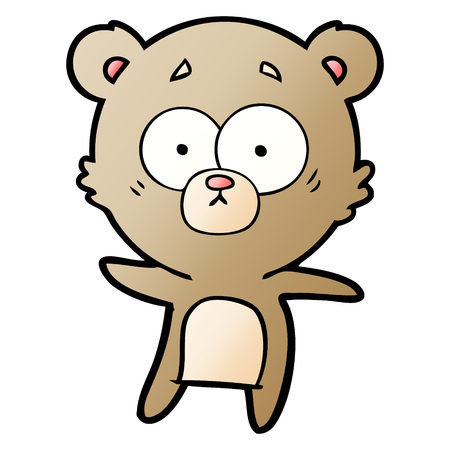 Anxious bear cartoon Ilustração