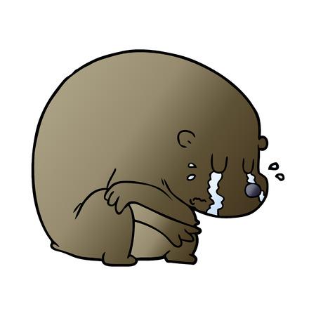 Crying cartoon bear