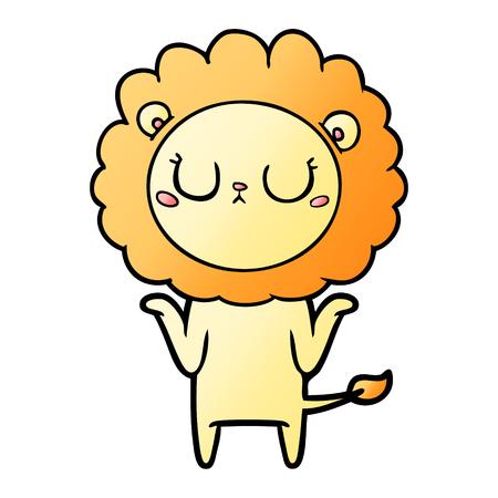 Cartoon lion relaxing Illustration