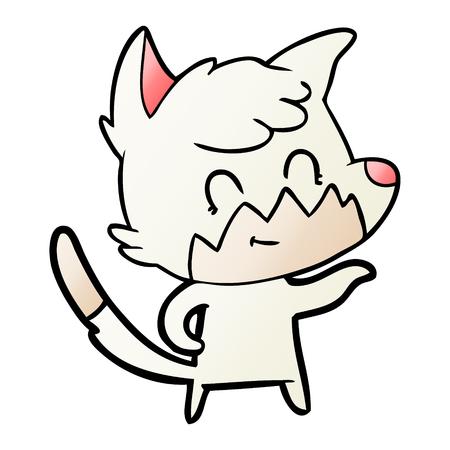 Cartoon friendly fox