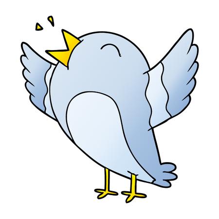 Kreskówka śpiew ptaków
