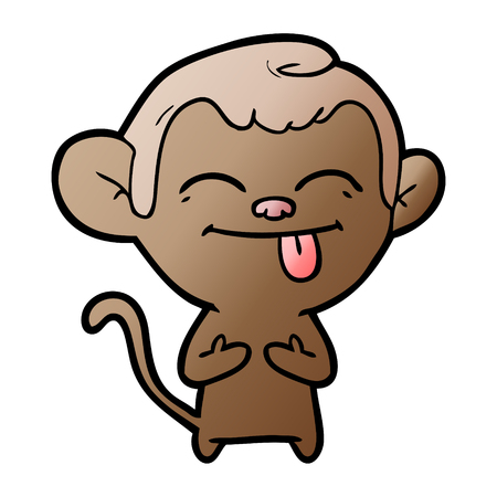 Funny cartoon monkey