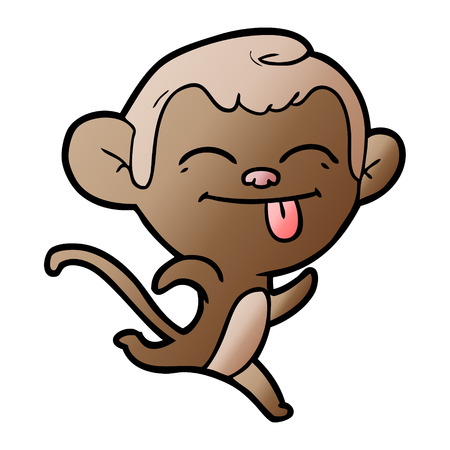 funny cartoon monkey 일러스트