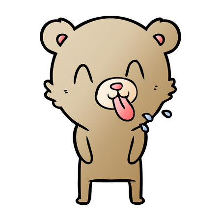 rude cartoon bear 스톡 콘텐츠 - 95615105