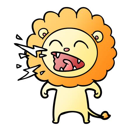 Cartoon roaring lion Banque d'images - 95551044