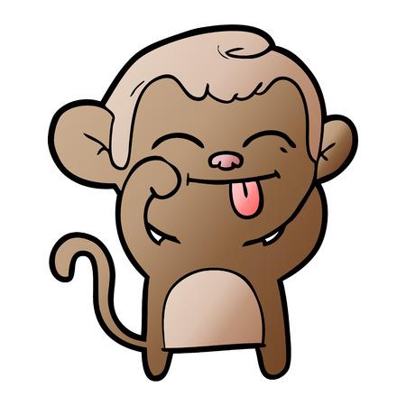 Funny cartoon monkey 스톡 콘텐츠 - 95551793
