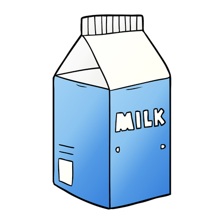cartoon milk carton Vettoriali