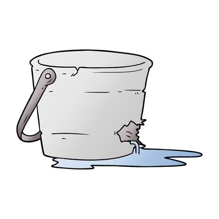 broken bucket cartoon 向量圖像
