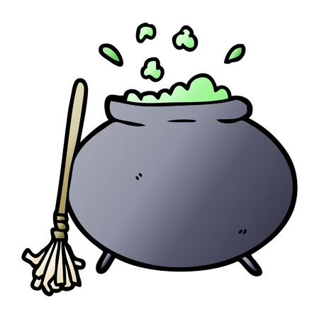 Cartoon cauldron Ilustracja