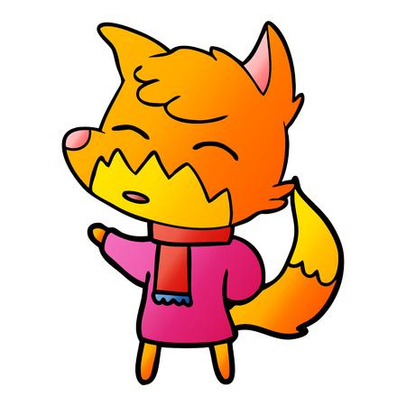 cartoon pink fox